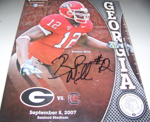 2007 Brandon Miller Autographed - Georgia Bulldogs Program