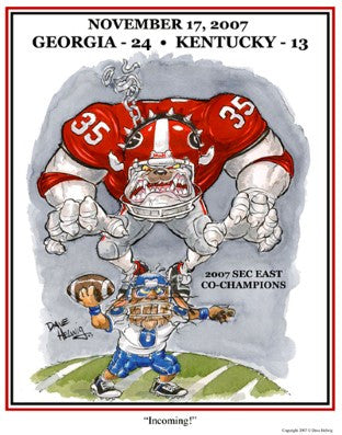 2007 Dave Helwig 'Incoming' SEC East Champs Print Art