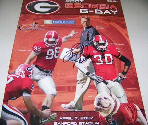 2007 David Pollack Autographed - G Day Game Program