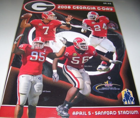 2008 DeAngelo Tyson Autographed G Day Game Program