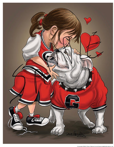 "2020 Dave Helwig 'At First Sight"" Georgia Bulldawg Print Art"