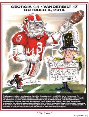 2014 Dave Helwig 'The Throw' Todd Gurley Print Art