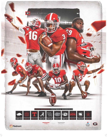 2020 Rare Football Team Schedule Posters - Lot of 2 total Offense & Defense