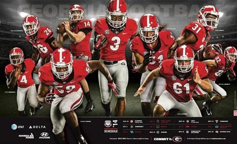 2014 Football Team Schedule Poster
