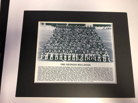 1982 Team Roster w/ Player Names 8x10 photo with matte