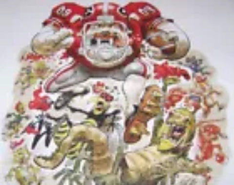 2009 Jack Davis Georgia Bulldogs Football Print