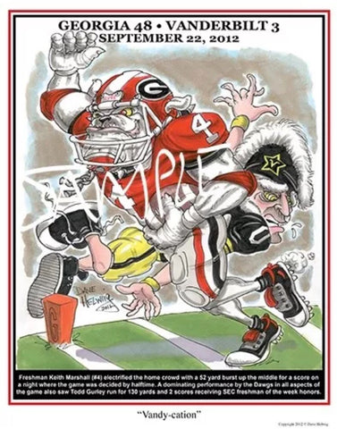 2012 Dave Helwig 'Vandy-cation' Keith Marshall Print Art