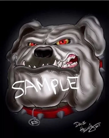 2017 Dave Helwig 'Bad Dog' Print Art
