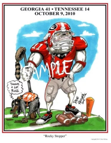 2010 Dave Helwig 'Rocky Stopper' Aaron Murray Print Art