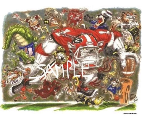 2014 Dave Helwig 'Unleash the Dawg' 18x24in.