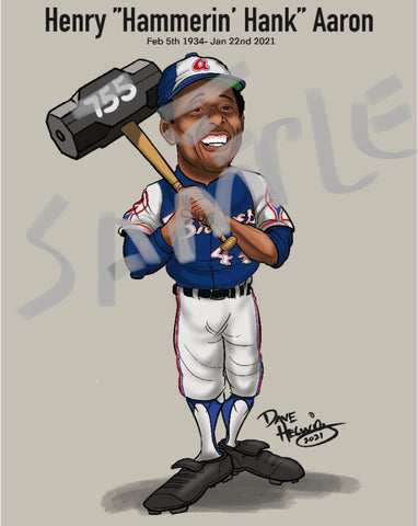 "2020 Dave Helwig ""Hank Aaron"" Tribute Artwork"