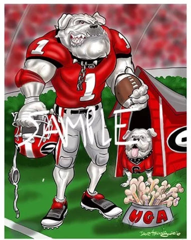 2016 Dave Helwig 'Between the Hedges' Print Art