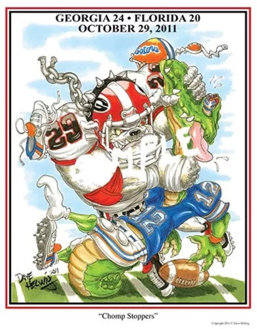 2011 Dave Helwig 'Chomp Stoppers' Jarvis Jones Print Art