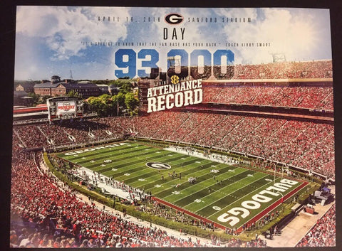 2016 93K Day G-Day Football Poster
