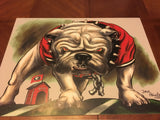 "2018 Dave Helwig ""Red Eye Dawg"" Georgia Bulldogs Artwork"