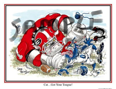 2008 Dave Helwig 'Cat...Got Your Tongue' v.  Kentucky Print Art