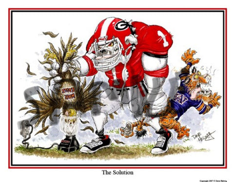 2007 Dave Helwig 'The Solution' v. Auburn Print Art