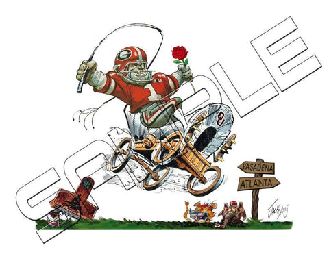 Jack Davis Commemorative Rose Bowl Championship Tribute