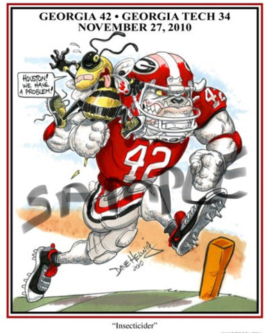 2010 Dave Helwig 'Insecticider' Justin Houston Print Art