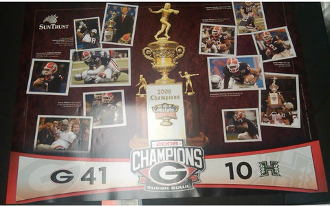 2008 Sugar Bowl Championship Football Schedule Poster