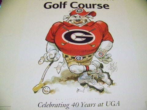 2008 Jack Davis Georgia Bulldogs Golf Poster