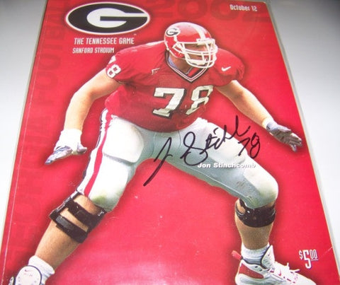 2002 Georgia Bulldogs Jon Stinchcomb Autographed Program