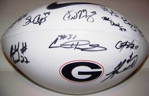 Knowshon Moreno & 2008 RB's Autographed Football