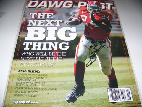 2007 Dawg Post Knowshon Moreno Autographed