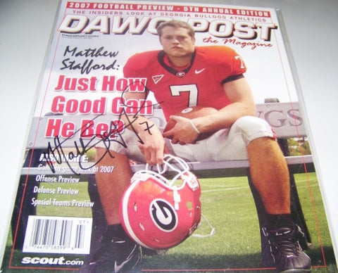Matthew Stafford Autographed- Dawg Post - Summer 2007