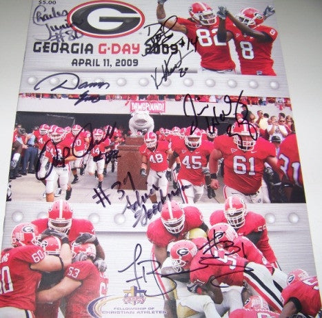 2009 Multiple Greats Autographed G Day Game Program