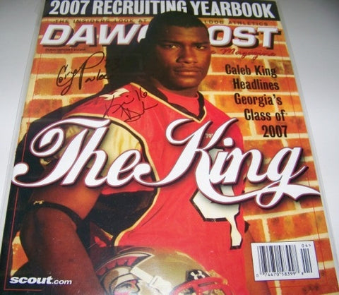 2007 Multiple Player Autographed Dawg Post