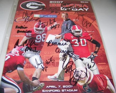 2007 Multiple Player Autographed - G Day Game Program