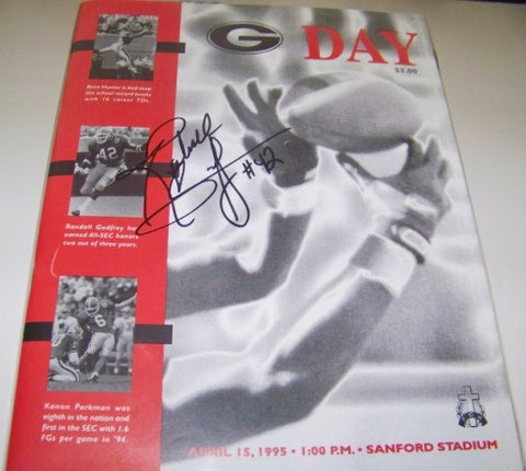 1995 G Day Game Program Randall Godfrey Autographed