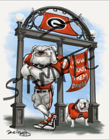 "2019 Dave Helwig ""The Arch"" Georgia Bulldogs Artwork"