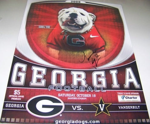 2008 Georgia Bulldogs Tavarres King Autographed Program