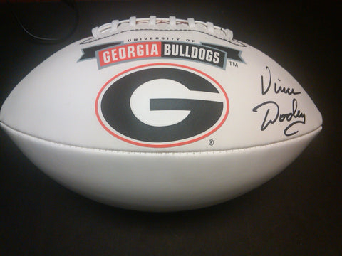 Vince Dooley Autographed Georgia 'G' Football