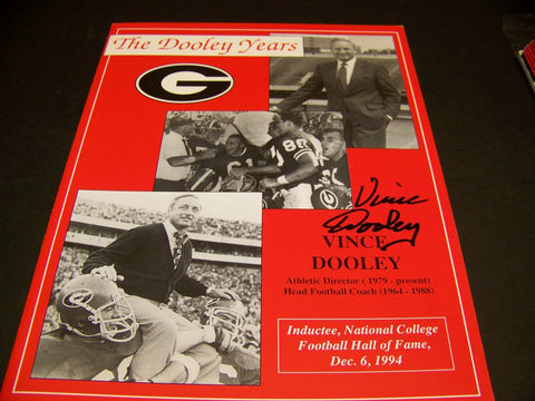 Vince Dooley 'The Dooley Years' autographed program