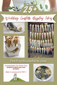 How to Display Your Wedding Confetti | 25+ Wedding Cone and Wedding Toss Ideas