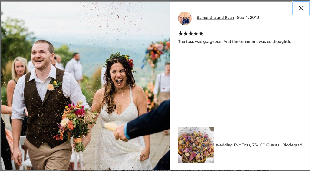 dried flower toss flower confetti, biodegradable