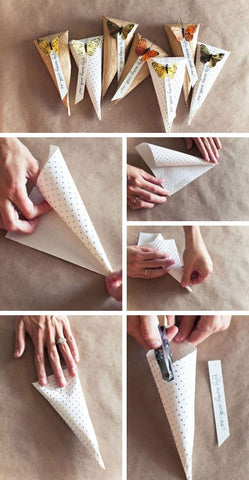 how to make wedding cones for flower confetti