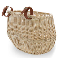 vintage wicker bike basket image