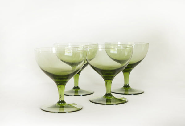 Vintage green cocktail glasses image