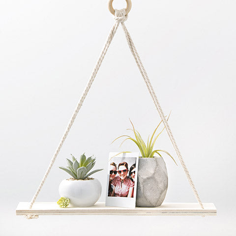 Wood Rope Shelf, Simple, Modern | Ready to Hang