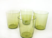 handblown green glasses image