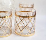 Vintage 18K Gold Altuzarra Glasses Diamond Pattern