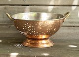 Vintage Copper Colander | Mid century Copper Colander from the Tiny House Farm