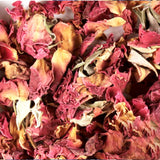 dried red roses flower confetti