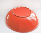 atomic orange melamine bowl