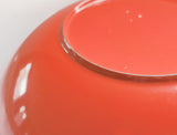 orange melamine bowl