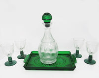 vintage bar decanter emerald green, Avon